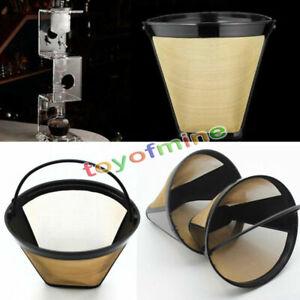 Edelstahl-Mesh-Conical-Permanent-Cone-Style-Kaffeemaschine-Maschine-Filter