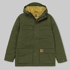 Carhartt-Mentley-Jacket-Cypress-Khaki-Olive-Kapuze-Parka-I021871-Neu