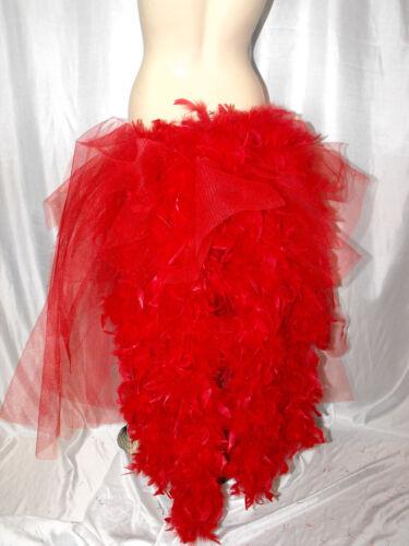 Tutu Big Black Gothic Steampunk Dancer Bustle Feathers Halloween Witch s XXXXXL