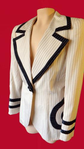 I MAGNIN Vintage color block blazer 40s 50s silk s