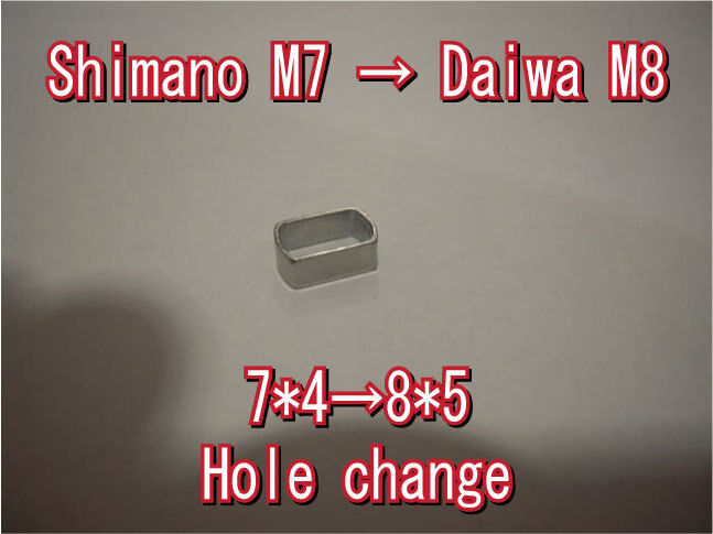 Shimano M7 to M8 Daiwa reel handle hole  change parts 7mm to 8mm changer spacer  authentic quality