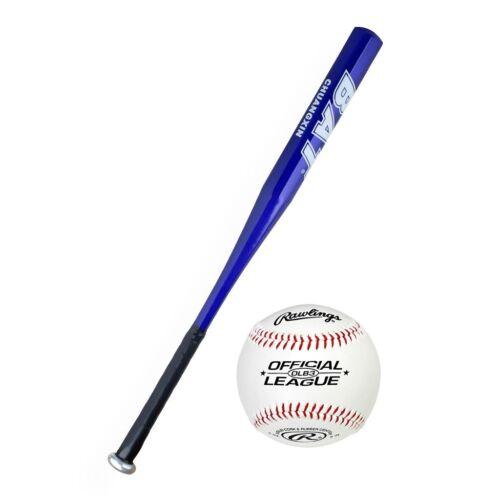 "BodyRip 28/"" 30/"" 32/"" Steel Alloy Baseball Bat Lightweight Full with Soft Ball"
