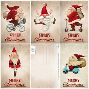 15-lustige-Weihnachtskarten-Set-mit-5-witzigen-Weihnachtsmann-Motiven