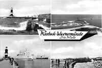 AK, Rostock Warnemünde, vier Abb., Die Mole, 1981
