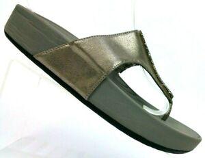 Bare-Traps-Gray-Garnett-Platform-Slide-Thong-Sandals-Flip-Flops-Women-039-s-10-M