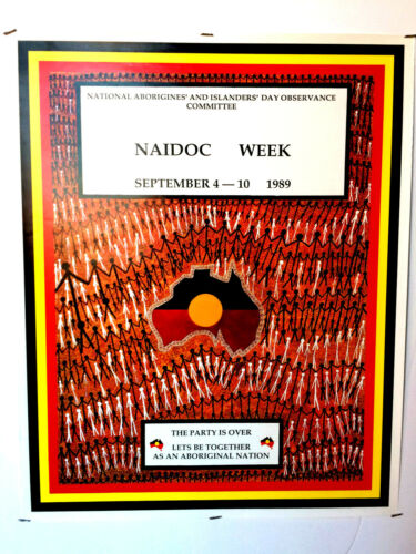 """NAIDOC WEEK"" Aboriginal Screenprint Poster 1989"