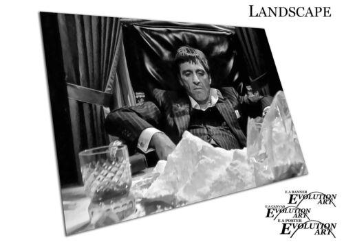 Black /& White American gangster Tony Montana Scarface Art Poster Print X2358
