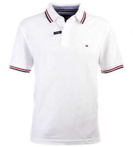 buy online e13f3 202af Details about Tommy Hilfiger Mens Wicking Polo Shirt Polo Shirt White Size  S-XXXL- show original title