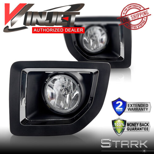 PAIR 15-16 Sierra 2500 Fog Light Bumper Lamp Clear w// Wiring Switch Kit
