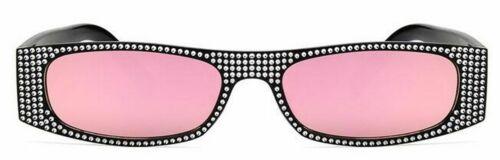 Diamond Square Sunglasses Women Crystal Glasses Ladies New Gradient Shades Retro