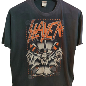 Slayer-2014-Concert-T-Shirt-Adult-3XL-Graphics-Heavy-Metal-Rock-Band-Black