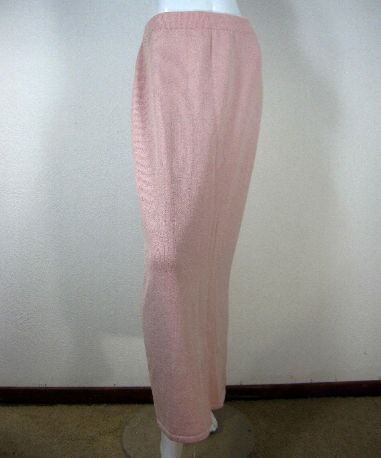 Santana Knit Wool Full Length Straight Pencil Skirt Size 14 SOLID Pink