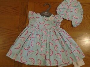 BNWT-baby-girl-3-piece-Mothercare-outfit-Dress-pants-hat-0-3-mths-2-1