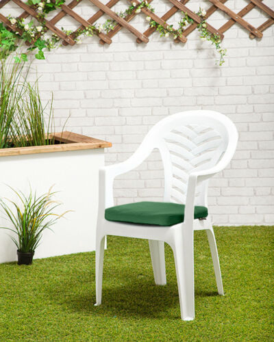 Green Cushion Pad for résol Palma//Cool Plastic Garden Chair Outdoor Waterproof