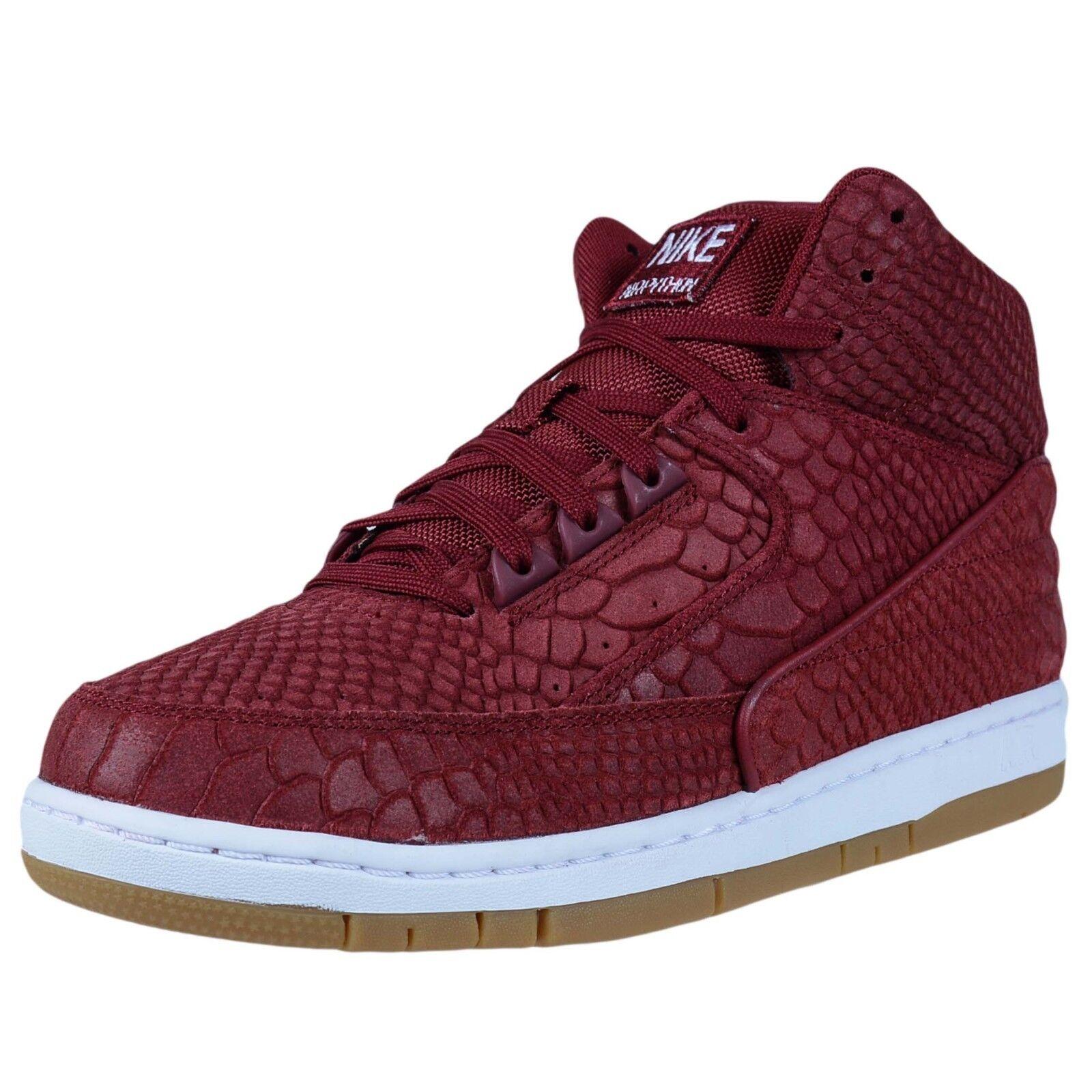 Nike Air rojo Python Premium Blanco Gum serpiente Baloncesto equipo rojo Air granate 705066 601 887299