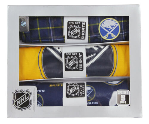 Outerstuff NHL Hockey Youth Buffalo Sabres 3-piece Boxed Pajama Set