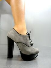 MORI ITALY SEXY HIGH HEELS ANKLE SHOES BOOT STIEFEL PUMPS LEATHER GREY GRIGIO 41