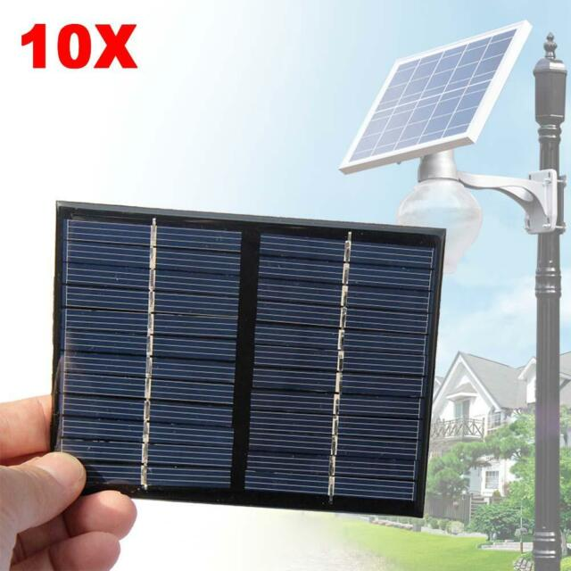 10X Mini 12V 1.5W Solar Power Panel Solar System DIY For Cell Phone Chargers #MT