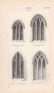 Antiquitäten & Kunst KöStlich C1840 Viktorianisch Architektonisch Aufdruck ~ Fenster Dekoriert St Alban Abbey MöChten Sie Einheimische Chinesische Produkte Kaufen?