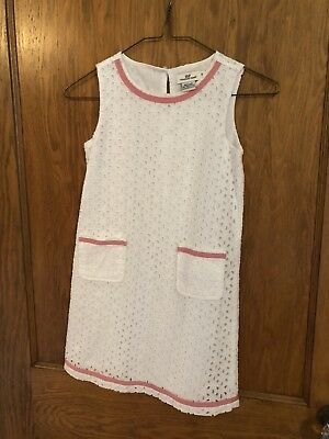 NWT Vineyard Vines Girls Flag Whale Shift Dress White Cap $65.00