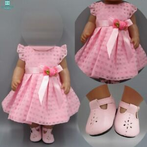 Baby Doll Clothes For 43 45cm Toy New Born Doll And American Doll Pink Dress Ebay