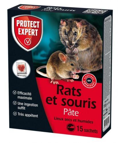 PROTECT EXPERT RASOU150 RASOU150-Pâte Rats et Souris Sachets pré-dosés