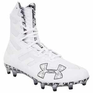 Under Armour Size 9 UA Highlight MC Men NEW 3020267-101 White Football Cleats
