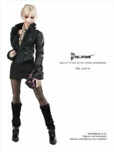 DOLLSFIGURE-1-6-Female-Gothic-Leather-Jacket-Coat-Clothes-Set-Fit-12-039-039-Figure