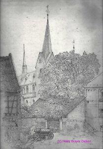 Guido-Kainzbauer-jun-Zeichnung-St-Pankratius-OF-Burgel-Ausschnitt-Bleistift