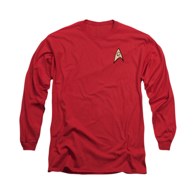 Star Trek Original Series ALL STAR CREW Licensed Adult Long Sleeve T-Shirt S-3XL