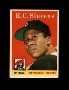 1958-Topps-Baseball-470-R-C-Stevens-RC-Pirates-EXMT