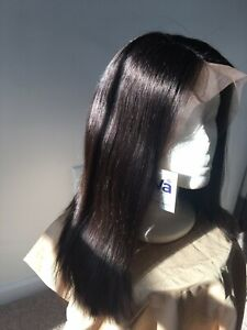 Eva Wig Sleek Straight Bob Lace Front Human Hair Wig 14 Inches Ebay
