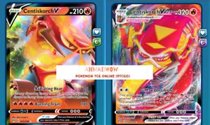 Centiskorch V and VMAX BUNDLE  for Pokemon TCG Online PTCGO!