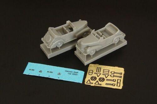2 Brengun Models 1//144 GERMAN WWII CABRIO STAFF CAR Resin /& Photo Etch Kit