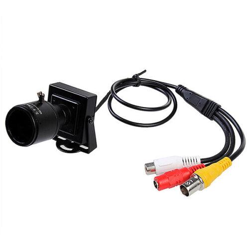 Mini 700TVL CMOS 2.8-12mm Manual Focus Zoom Lens Security FPV CCTV Audio Camera
