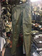"MENS 28""w US STYLE OLIVE COMBAT TROUSER ARMY CARGO MILITARY RANGER GREEN PANTS"
