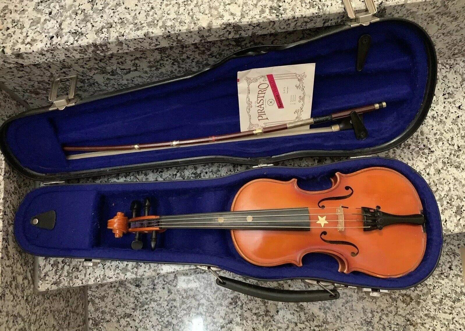 1 8 Geige Violine mit Bogen und Hartschalenkoffee