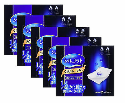 Unicharm Silcot Face 100% Cotton Skin Care 1 pack for 40pcs New Free Shipping