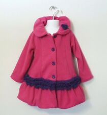 NEW MACK & CO Girl's Soft Fleece Coat Jacket Hot Pink 2T
