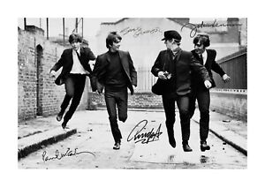 The-Beatles-1-A4-signed-photograph-poster-with-choice-of-frame