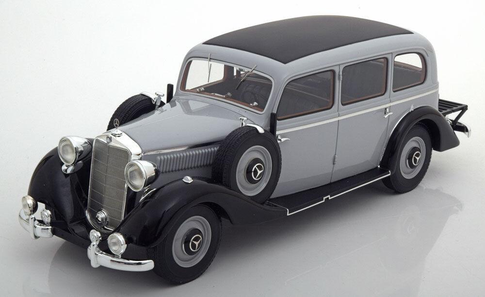 1937 Mercedes Benz 260D Pullman ljus grå svkonst av BoS Models LE of 504 1 18