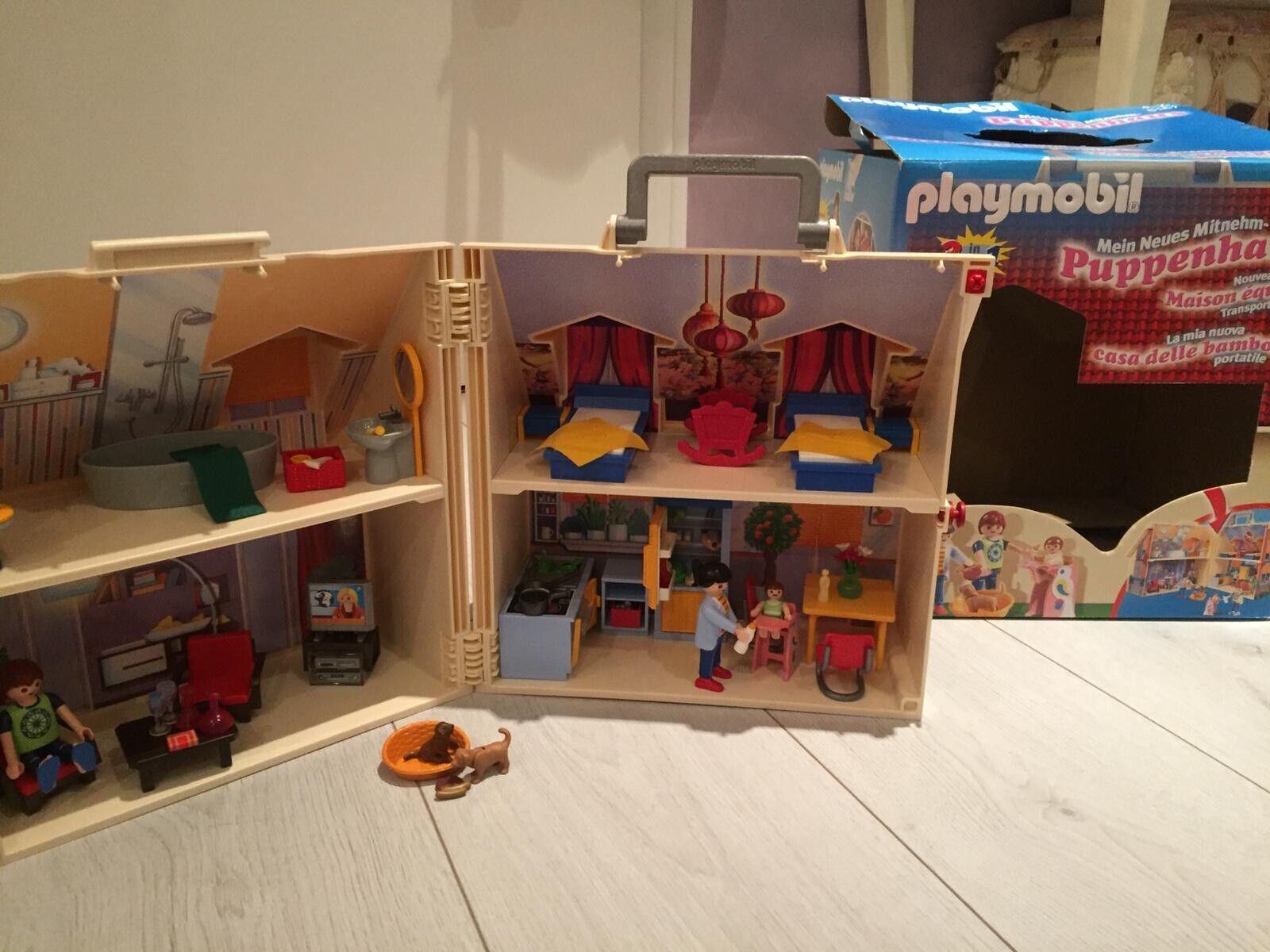 Playmobil 5167 Puppenhaus Tragbar + 70010 Garten TOP