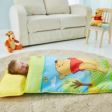 OFFICIAL WINNIE THE POOH COSY WRAP NAP BED CHILDRENS READY BED PADDED PILLOW NEW