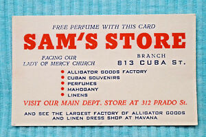 Business card sams store 312 prado st havana cuba ebay image is loading business card sam 039 s store 312 prado colourmoves