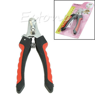 Pet Dog Cat Claw Toe Nail Clipper Cutter Trimmer Grooming Scissor Shear Groomer