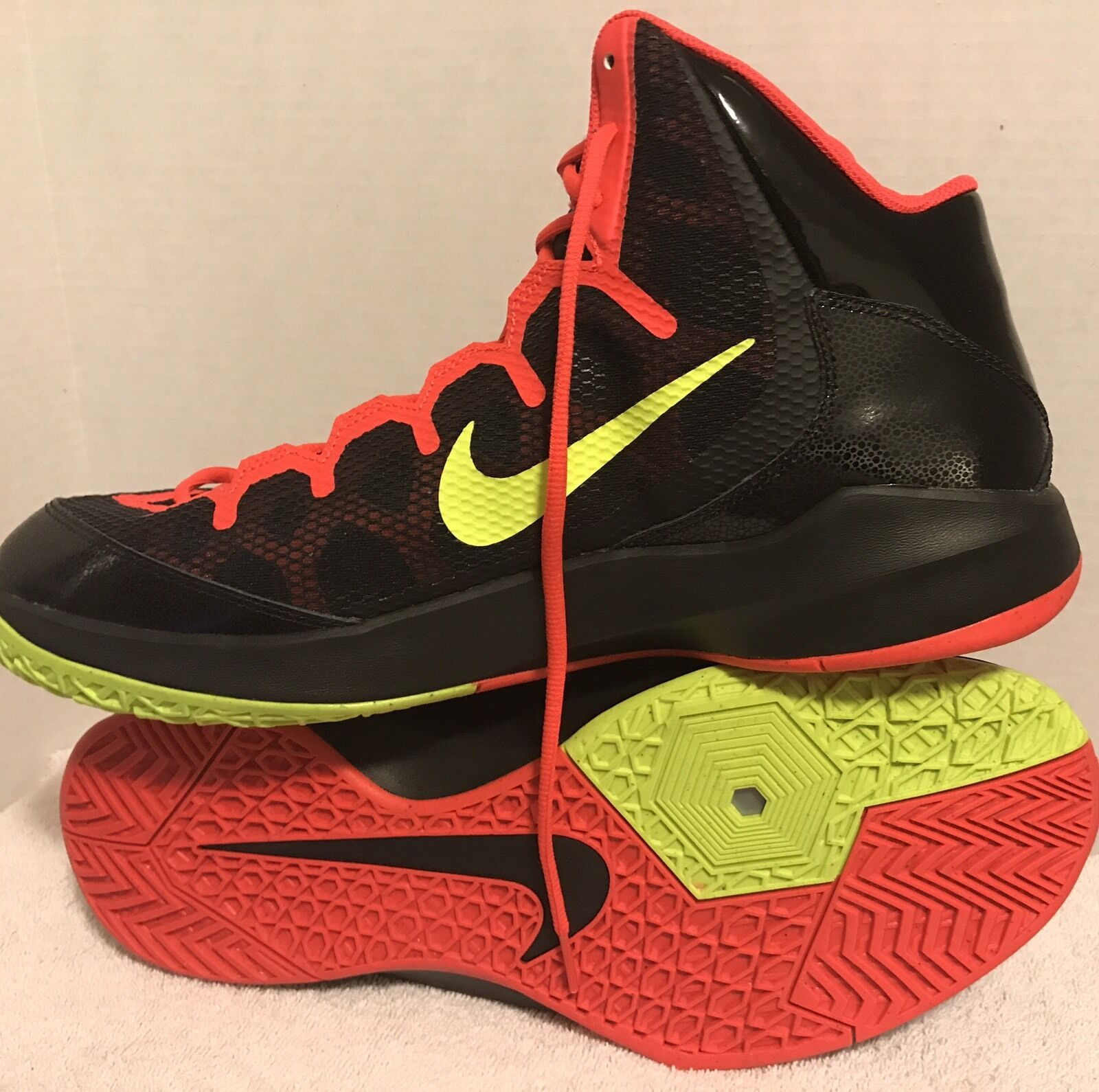 Nike Zoom Hi Top Basketball Trainers 749432 001 Sneakers Shoes