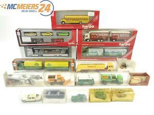E13X21s-Herpa-H0-22x-Modellauto-PKW-LKW-Sattelzug-Pferdewagen-Gabelstapler-1-87