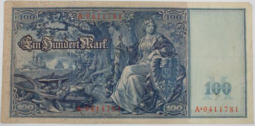 P-42 1910 German One Hundred Mark Note Extra Fine Beautiful Design
