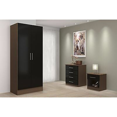 High Gloss Bedroom Set Sold as Set or Separately- Chest, Drawers, Wardrobe- New