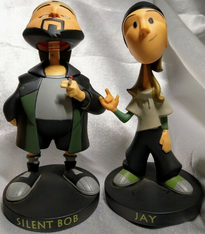 2005 A VIEW ASKEW (DOGMA) - JAY AND SILENT BOB BOBBLE HEADS. FREE SHIPPING